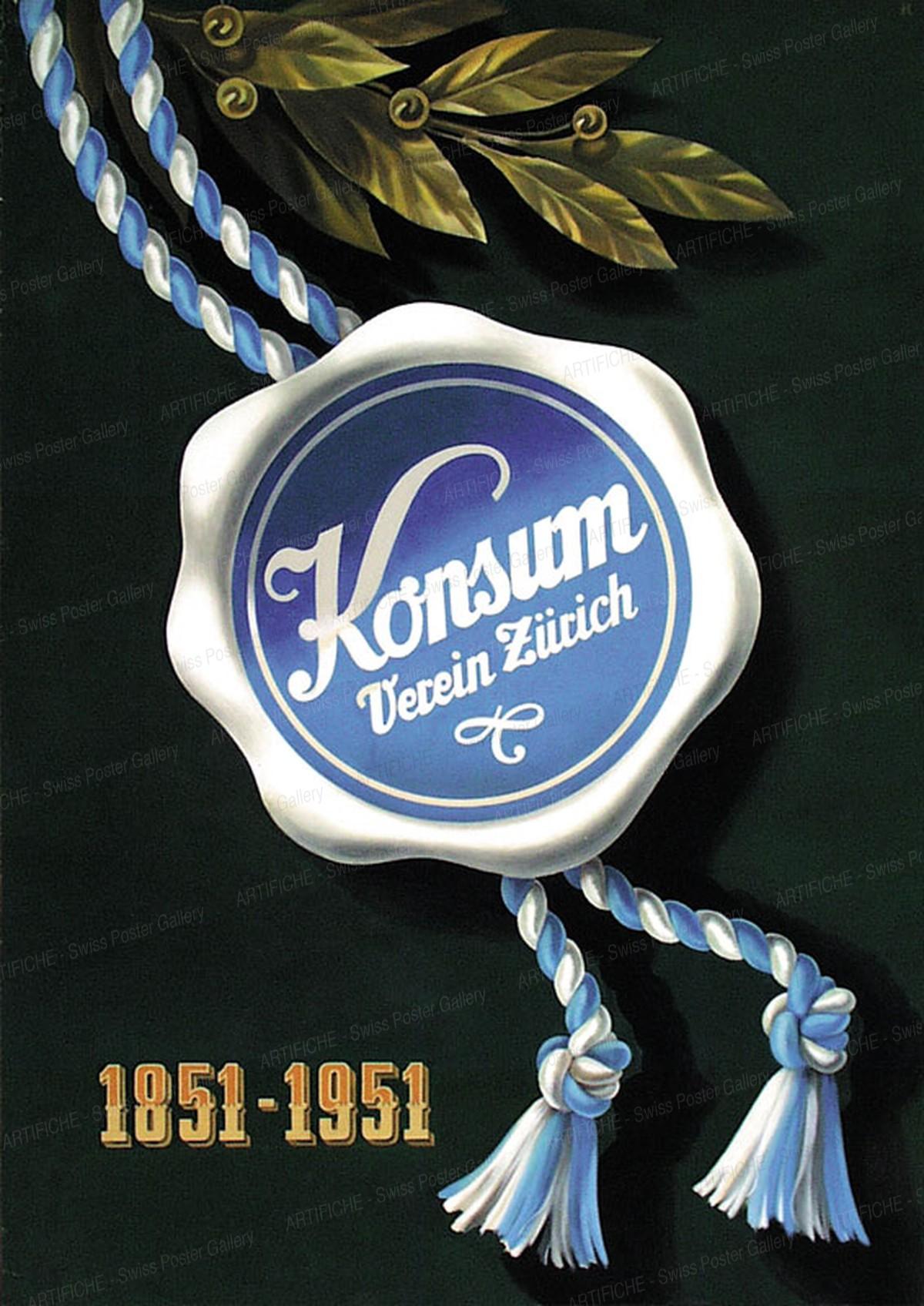 Konsum-Verein Zürich 1851 – 1951, Fritz Reck