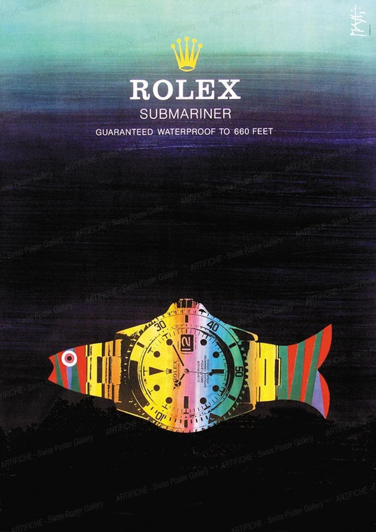 ROLEX – Submariner – garantiert wasserdicht bis 200m, Celestino Piatti