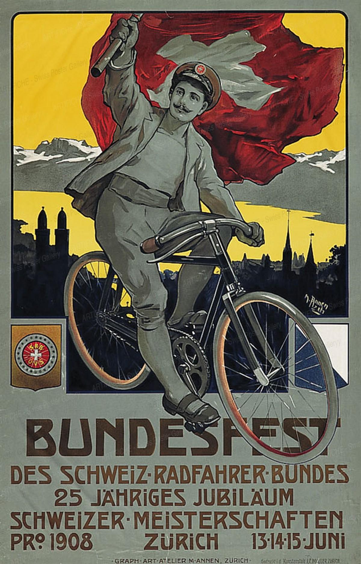 Bundesfest des Schweiz. Radfahrer-Bundes – Schweizer Meisterschaften – Zürich, Melchior Annen