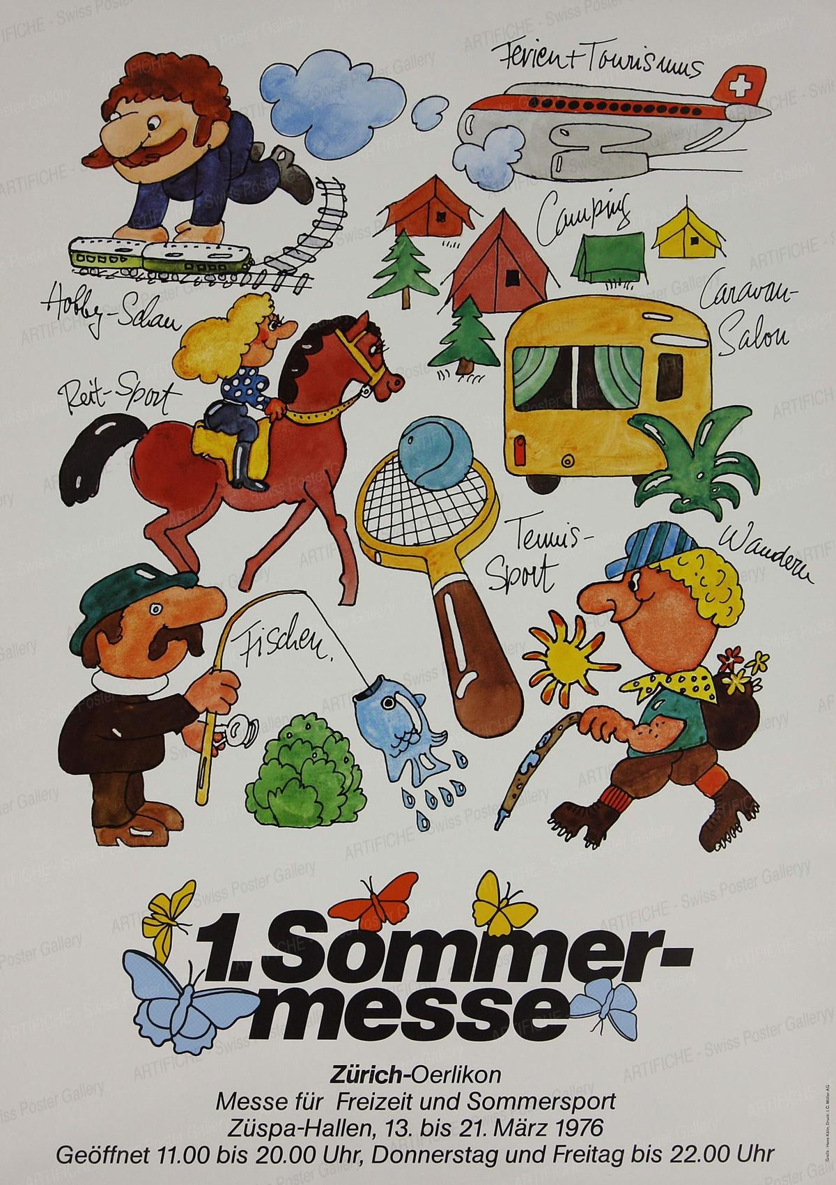 1. Sommermesse – Messe für Freizeit und Sommersport Zürich – Oerlikon, Hans Kälin