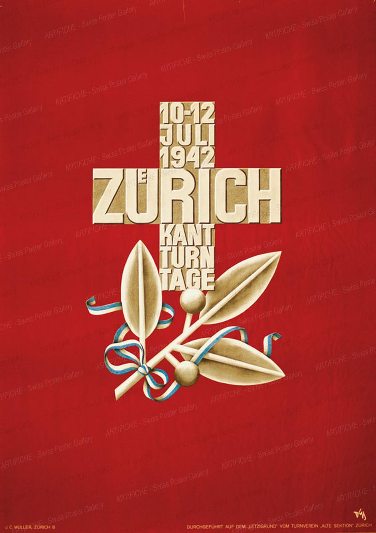 Zürich Kant. Turntage 1942, Alex Walter Diggelmann