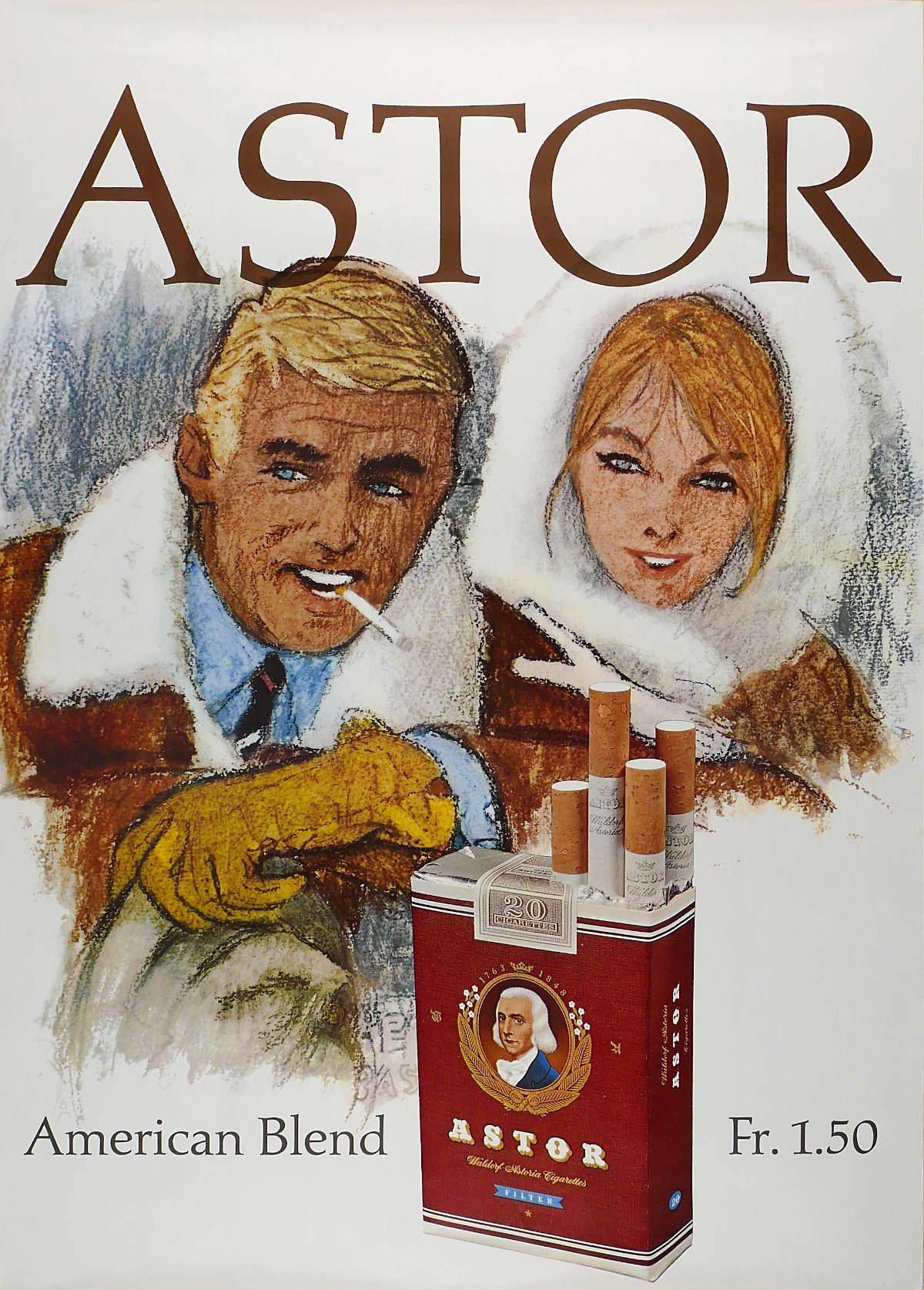Astor American Blend Fr. 1.50, Artist unknown