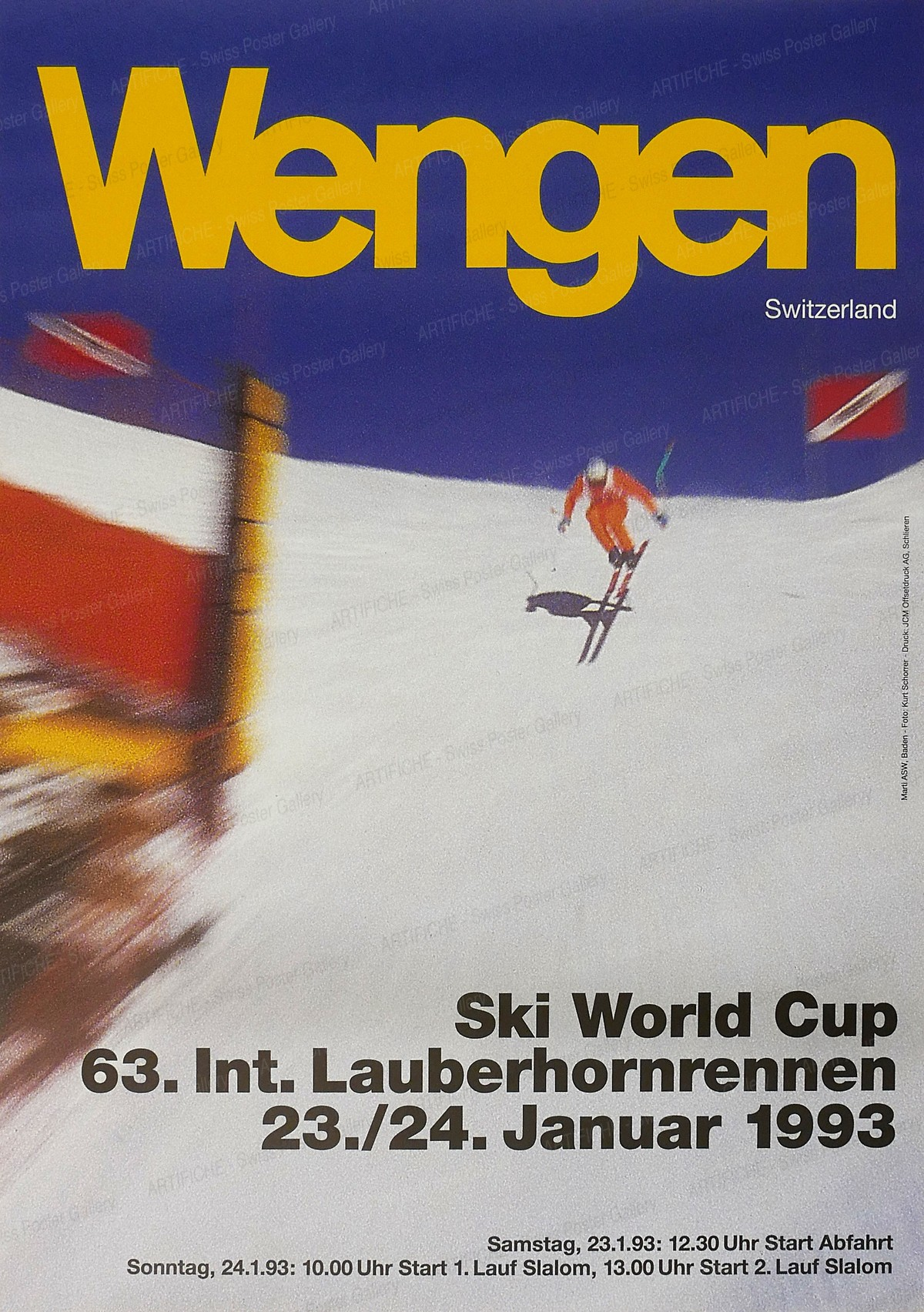 Wengen – 63. Int. Lauberhornrennen 1993, Ueli Marti