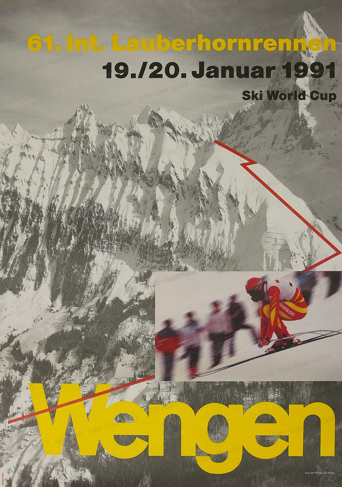 Wengen – 61. Int. Lauberhornrennen 1991, Ueli Marti