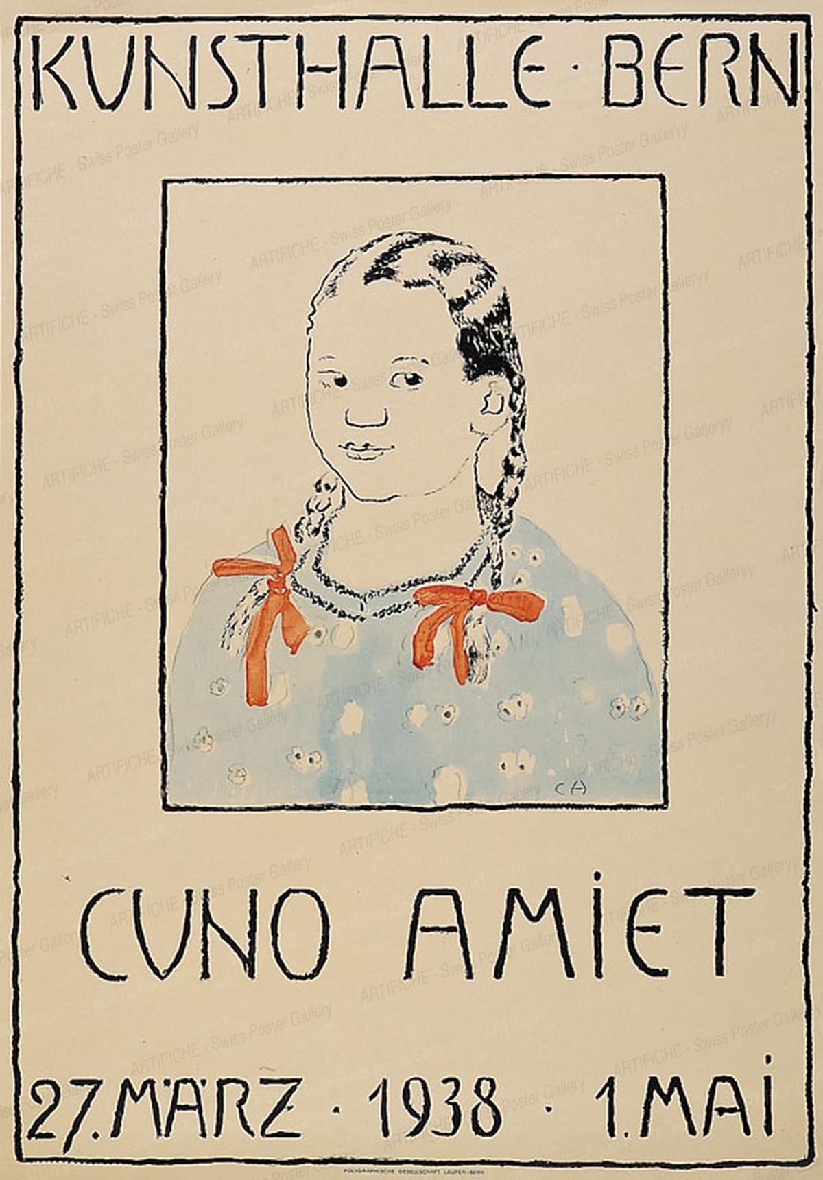 Kunsthalle Bern – Cuno Amiet – 1938, Cuno Amiet