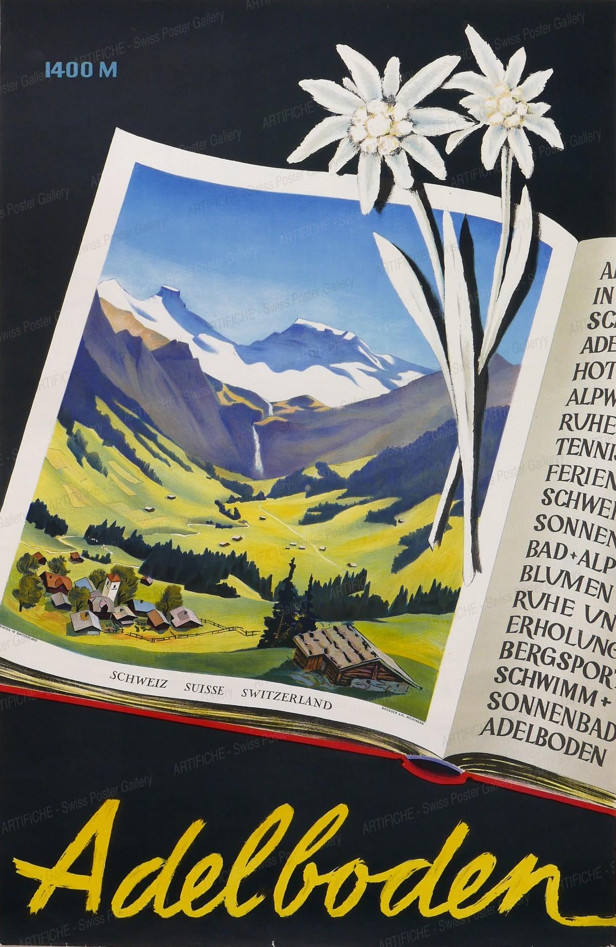 Adelboden 1400 m., Artist unknown