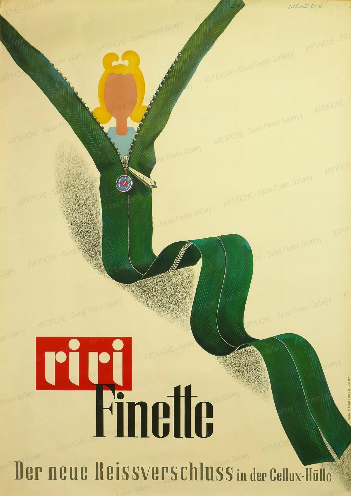 riri Finette – Der neue Reissverschluss in der Cellux-Hülle, Franco Barberis