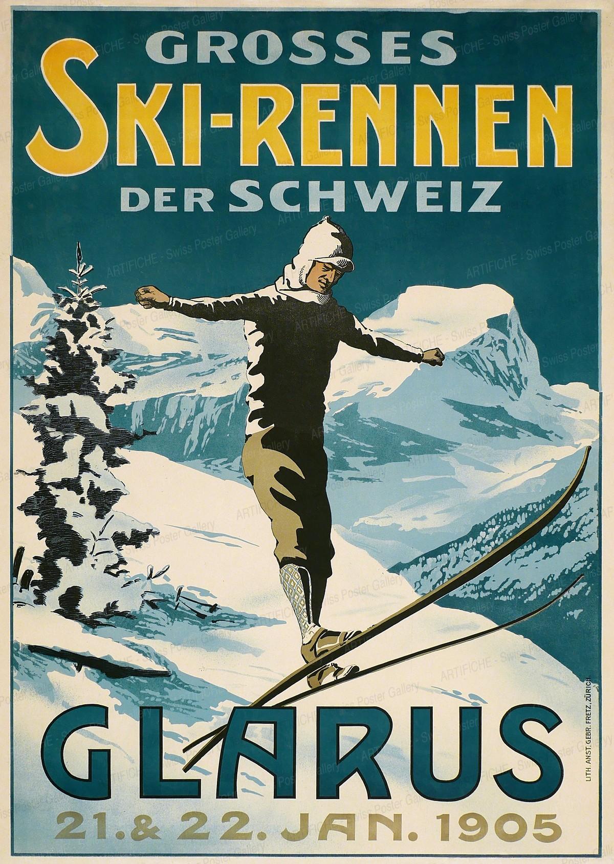 Grosses Skirennen Glarus 1905, Artist unknown
