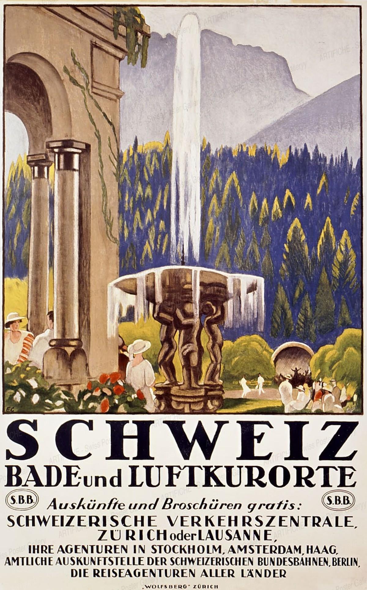 SCHWEIZ – Bade- und Luftkurorte, Emil Cardinaux