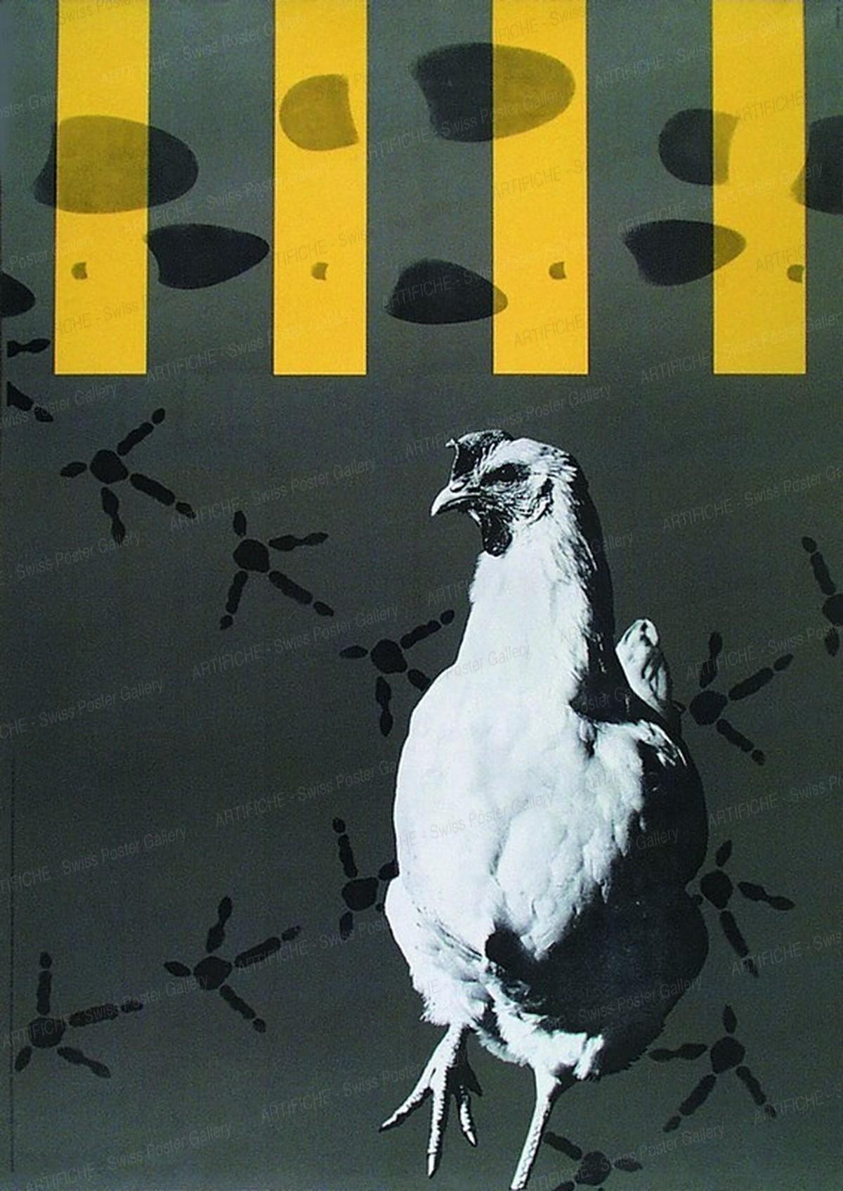 Schweizer Konferenz für Sicherheit im Strassenverkehr (Huhn auf Zebrastreifen), Hans Hartmann