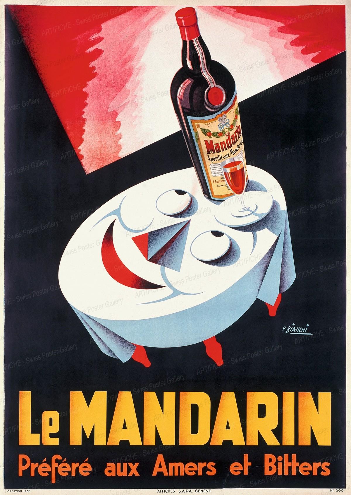 LE MANDARIN Préféré aux Amers et Bitters, V. Bianchi