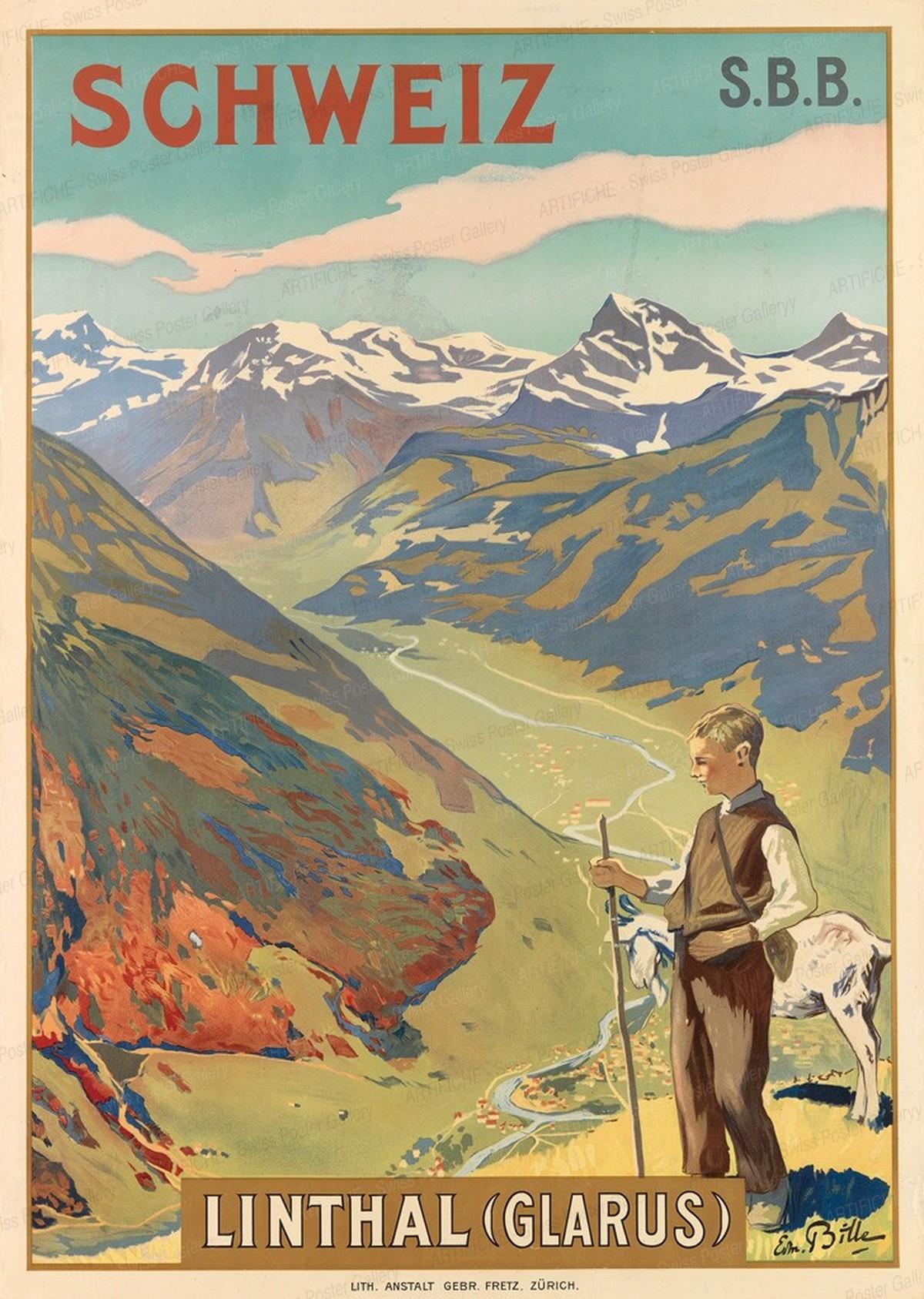 Schweiz – Linthal (Glarus) – S.B.B., Edmond Bille