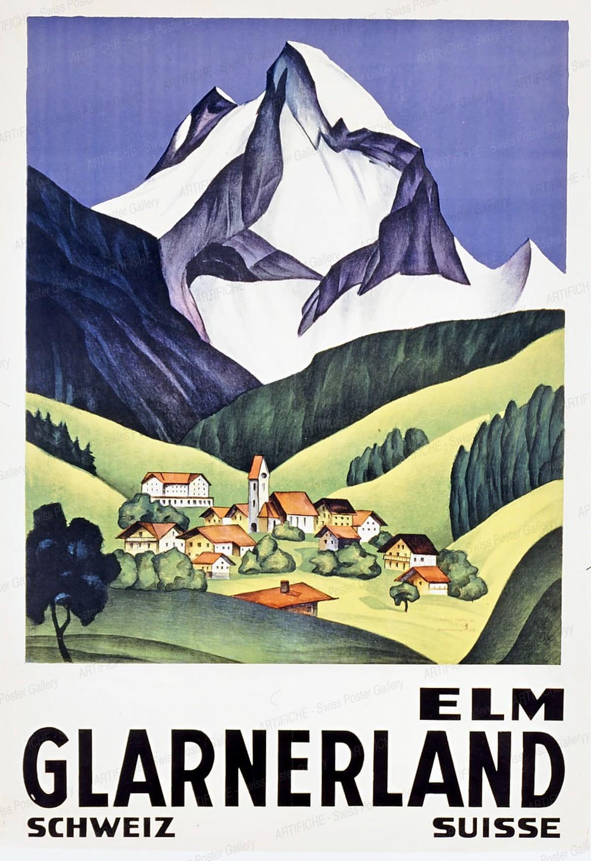 ELM GLARNERLAND – Schweiz Suisse, Artist unknown