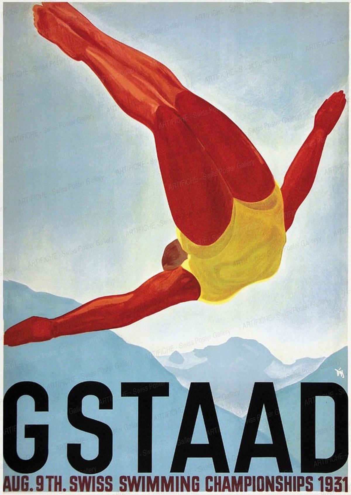 GSTAAD – Swiss Swimming Championships – Aug. 9th. 1931, Alex Walter Diggelmann