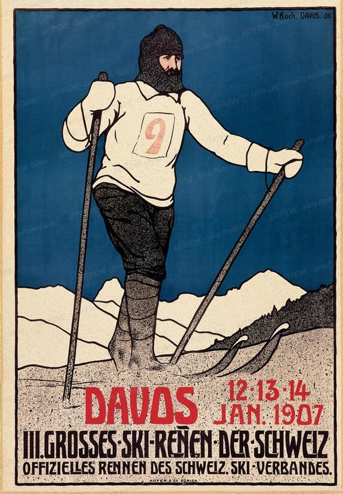 DAVOS – III. Grosses Skirennen der Schweiz 1907, Walther Koch
