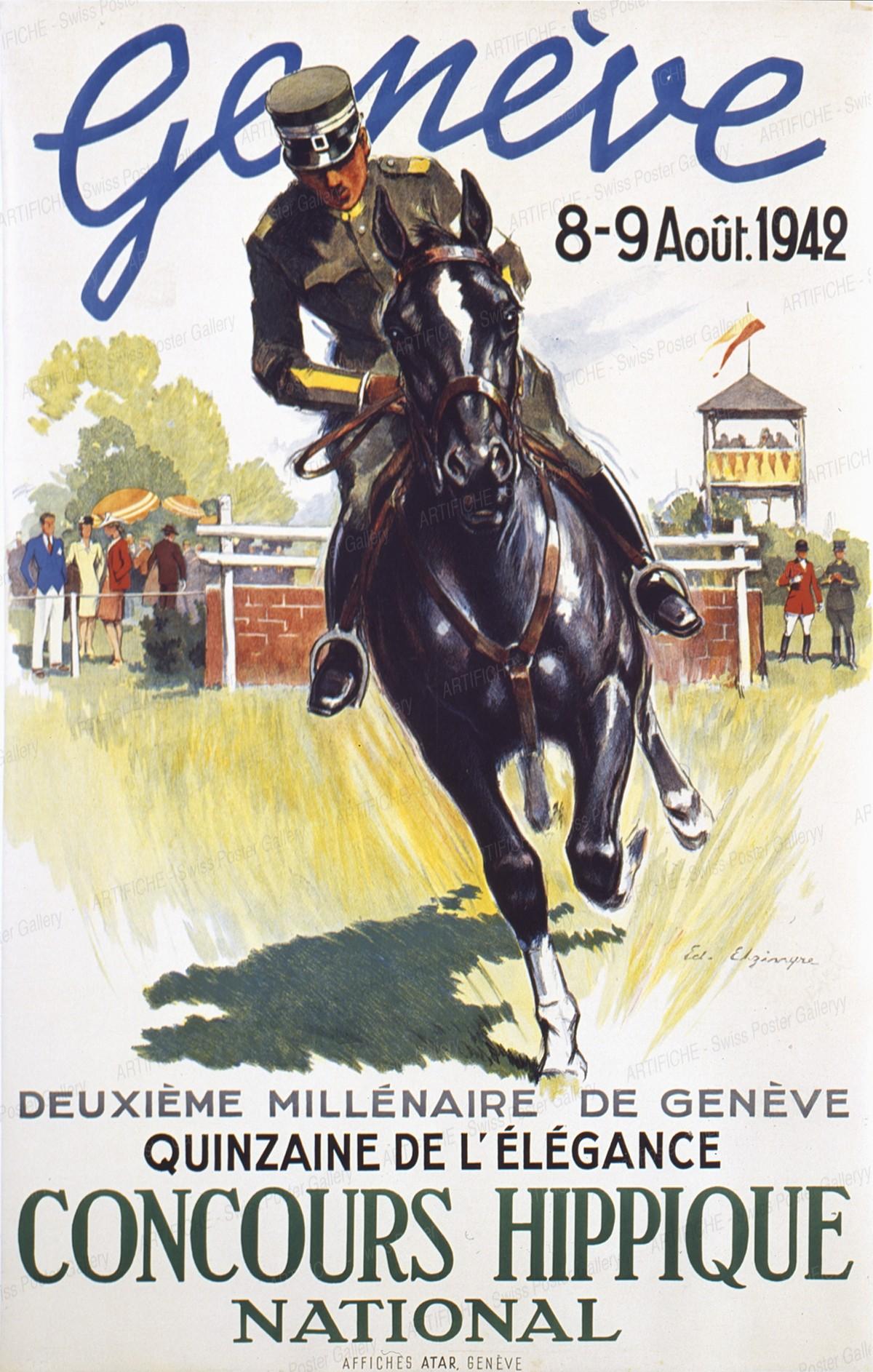 Concours Hippique -Genève 1942, Edouard Elzingre