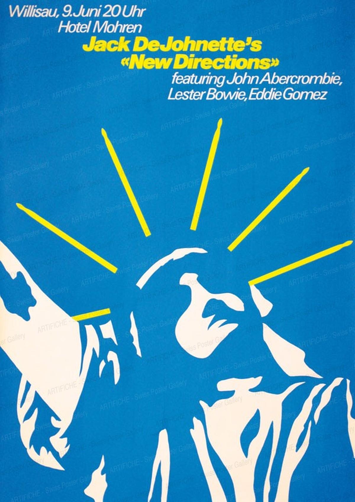 "Jazz Willisau – Jack De Johnette's ""New Direction"", Niklaus Troxler"