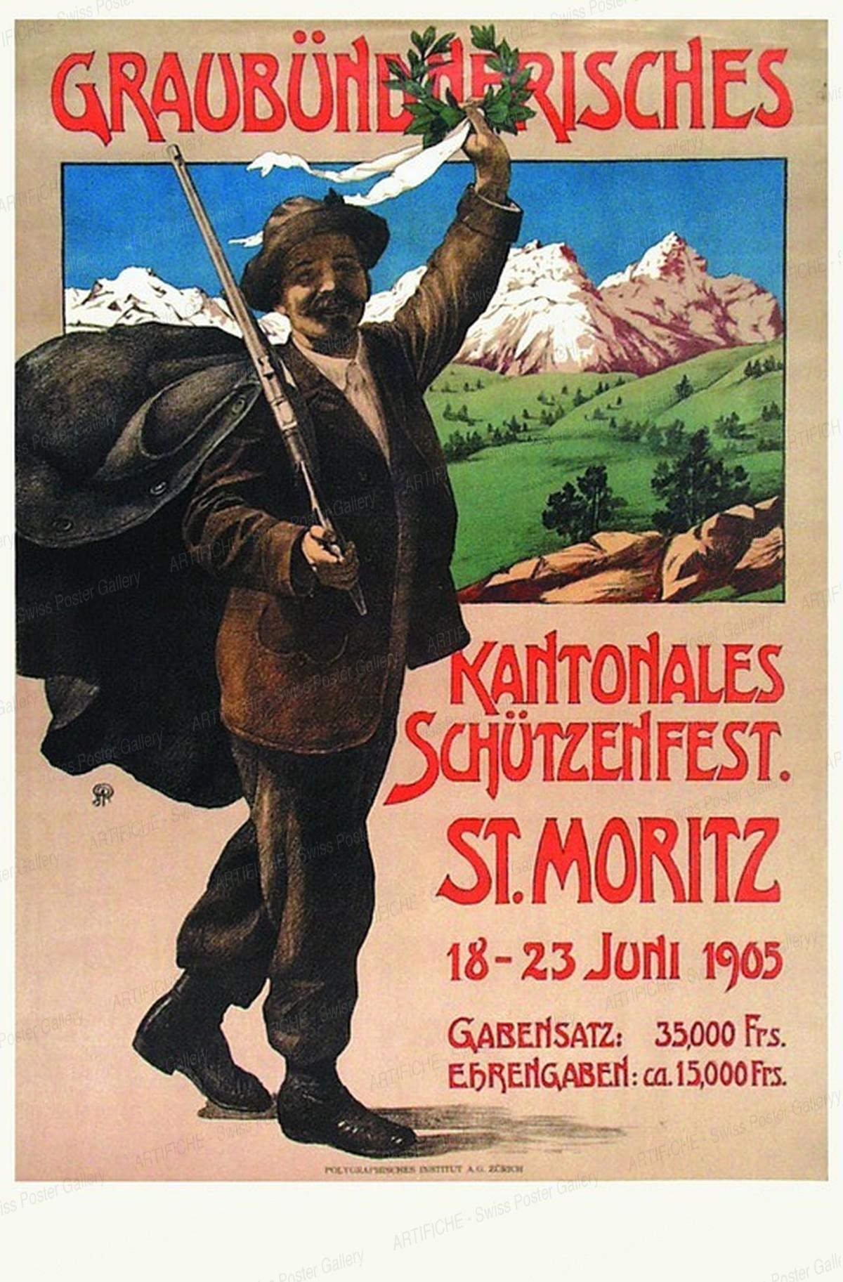 Graubündnerisches Kantonales Schützenfest St. Moritz 1905, Artist unknown