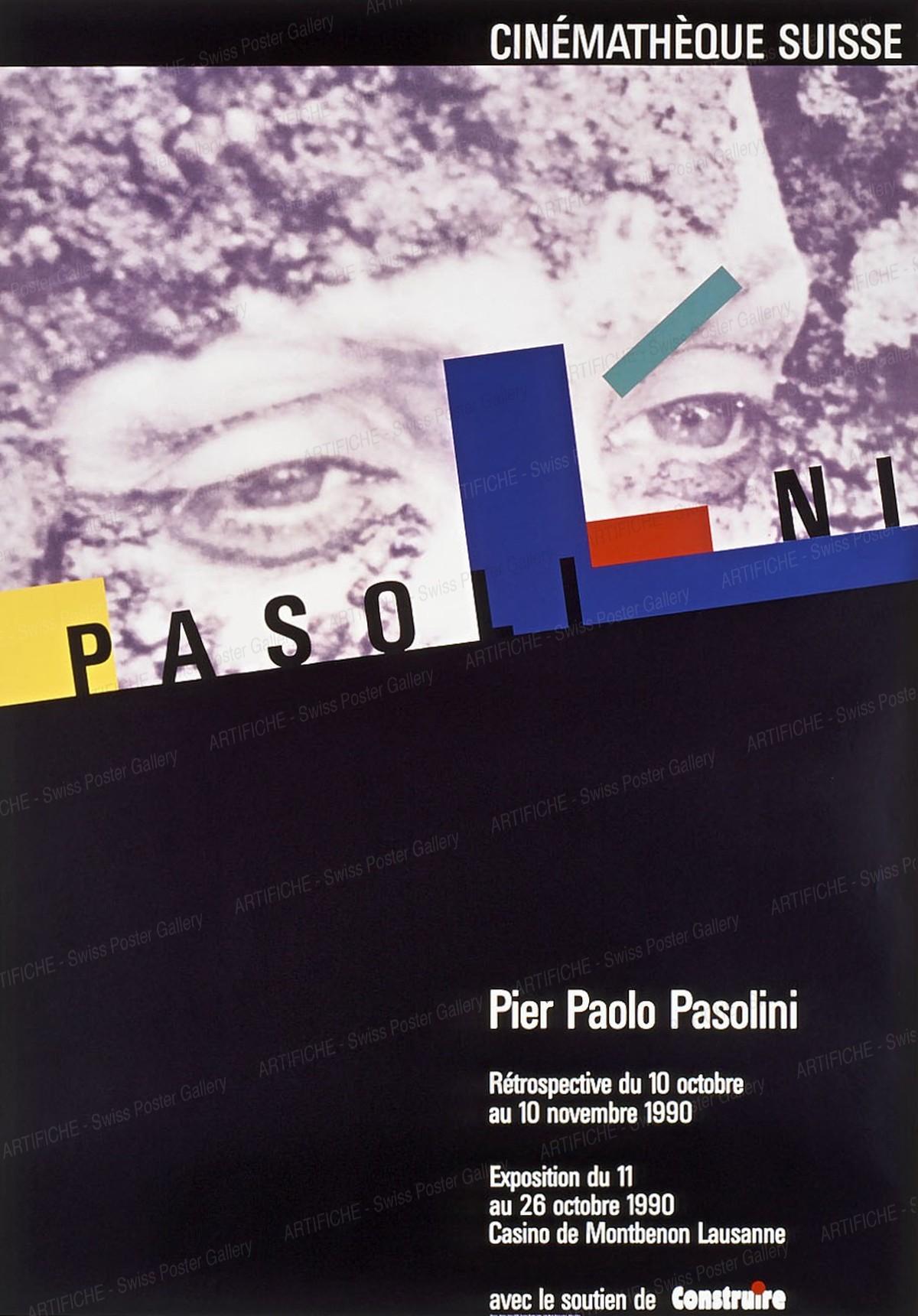 CINÉMATHÈQUE SUISSESUISSE – Pier Paolo Pasolini – Retrospective 1990, Werner Jeker