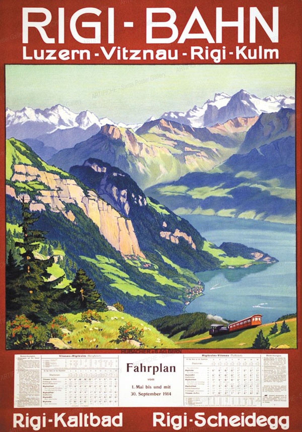 RIGI-BAHN Luzern Vitznau Rigi-Kulm – Rigi-Kaltbad – Rigi-Scheidegg, Artist unknown