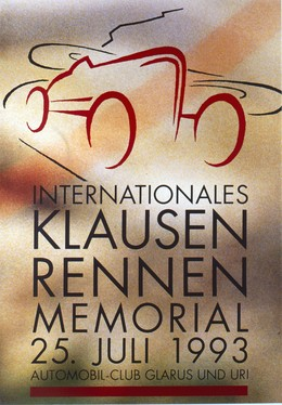 Internationales Klausen-Rennen -Memorial 1993 / Automobilclub Glarus und Uri, Heinz Baumann