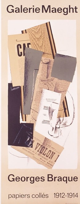 Galerie Maeght – Geroges Braque – papiers collés 1912-1914, Georges Braque