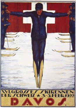 XVI. Grosses Skirennen der Schweiz 1922 Davos, Walther Koch