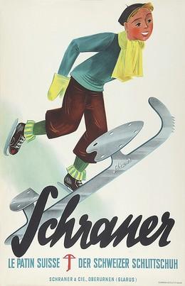 Schraner Ice skates, Artist unknown