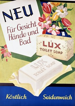 LUX Toilet Soap – NEU Für Gesicht Hände und Bad – köstlich seidenweich, Artist unknown