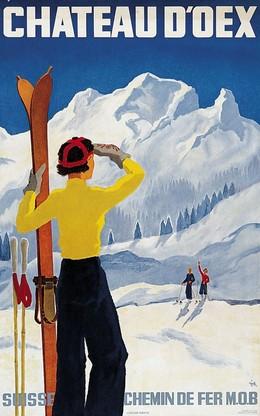 CHÂTEAU D'OEX – Suisse – Chemins de fer MOB, Alex Walter Diggelmann