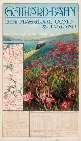 Gotthard Bahn – Laghi Maggiore Como & Lugano, Artist unknown