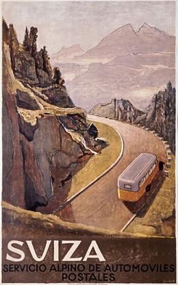 SUIZA – Servicio Alpino de Automoviles postales, Viktor Surbek