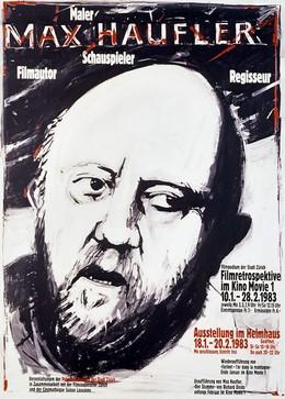 MAX HAUFLER – Filmpodium der Stadt Zürich – Filmretrospektive/Ausstellung Helmhaus 1983, Paul Brühwiler