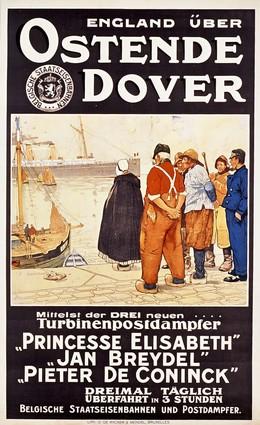 England über OSTENDE DOVER – Belgische Staatseisenbahnen, Henri Cassiers