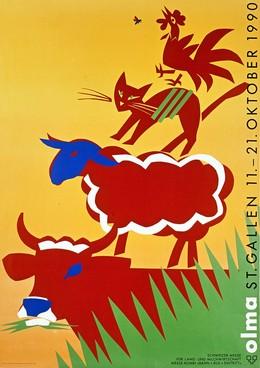 Olma Stl Gallen 11. – 21. Oktober 1990 – Schweizer Messe für Land- und Milchwirtschaft, Ruedi Külling