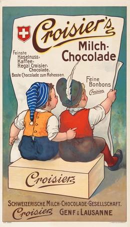 Croisier's – Schweiz. Milch-Chocolade-Gesellschaft, Artist unknown