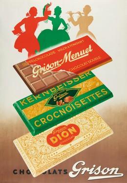 Grison – Chocolats, Artist unknown