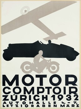 MOTOR COMPTOIR – Zürich 1932 – Autohalle Letzigraben, Otto Baumberger