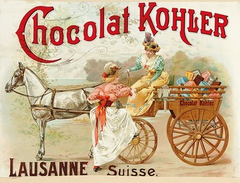 Chocolat Kohler Lausanne Suisse, Artist unknown