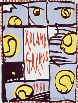 ROLAND GARROS 1988, Pierre Alechinsky