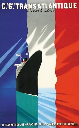 Cie. Gle. TRANSATLANTIQUE – French Line – Atlantique, Pacifique, Méditerranée, Paul Colin