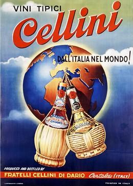 VINI TIPICI dall'Italia nel Mondo! – FRATELLI CELLINI DI DARIO Certalado (ITALY), Artist unknown