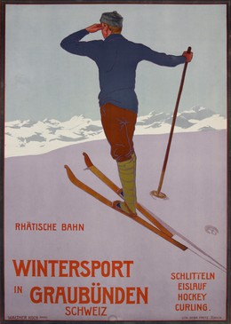 Winter Sports in the Grisons – Switzerland – Rhaetian Railway, Walther Koch