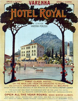 VARENNA – HOTEL ROYAL – Lago di Como, Artist unknown