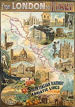 From London to Italy: South Italian Railway & Adriatic Lines, Artist unknown