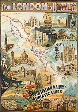 South Italian Railway Adriatic Lines, Artist unknown