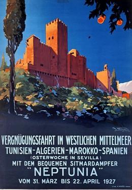 NEPTUNIA – Vergnügungsfahrt im Westlichen Mittelmeer – Tunesien-Algerien-Marokko-Spanien – 31. März bis 22. April 1927, Giulio Ferrari