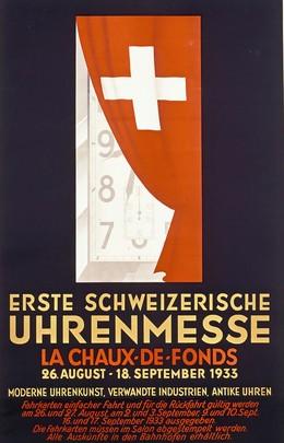 Erste Schweiz. Uhrenmesse La Chaux-de-Fonds : 26. August bis 18. September 1935, Artist unknown