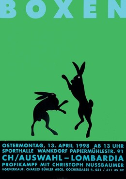BOXEN – Ostermontag 13. April 1998 – Sporthalle Wankdorf – CH/Auswahl – Lombardia, Claude Kuhn