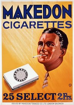 Makedon Cigarettes – Makedon Tobacco Co. Ltd. London-Salonica – 25 Select 2 Frs., Artist unknown